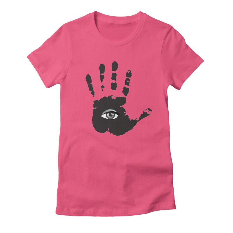 SEEING HAND Women's Fitted T-Shirt by DesignsbyAnvilJames's Artist Shop