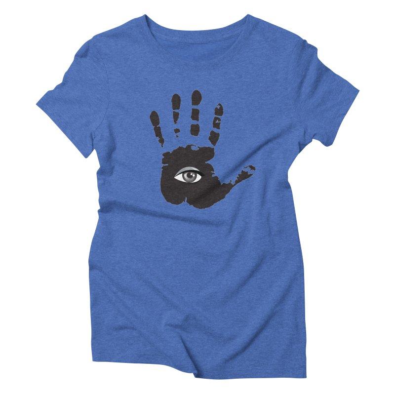 SEEING HAND Women's Triblend T-Shirt by DesignsbyAnvilJames's Artist Shop