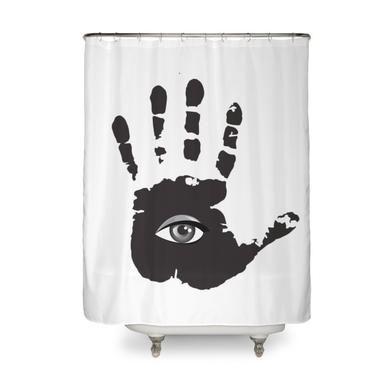SEEING HAND Home Shower Curtain by DesignsbyAnvilJames's Artist Shop