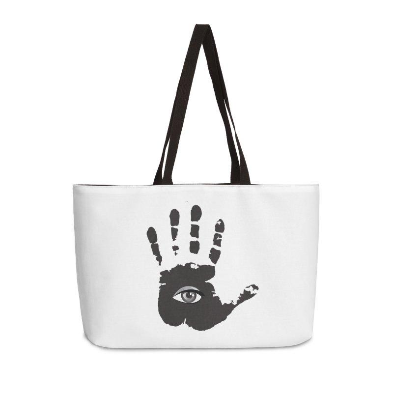SEEING HAND Accessories Weekender Bag Bag by DesignsbyAnvilJames's Artist Shop