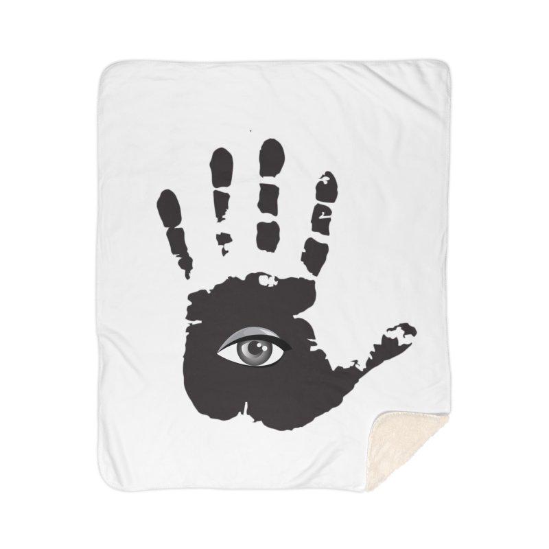 SEEING HAND Home Sherpa Blanket Blanket by DesignsbyAnvilJames's Artist Shop