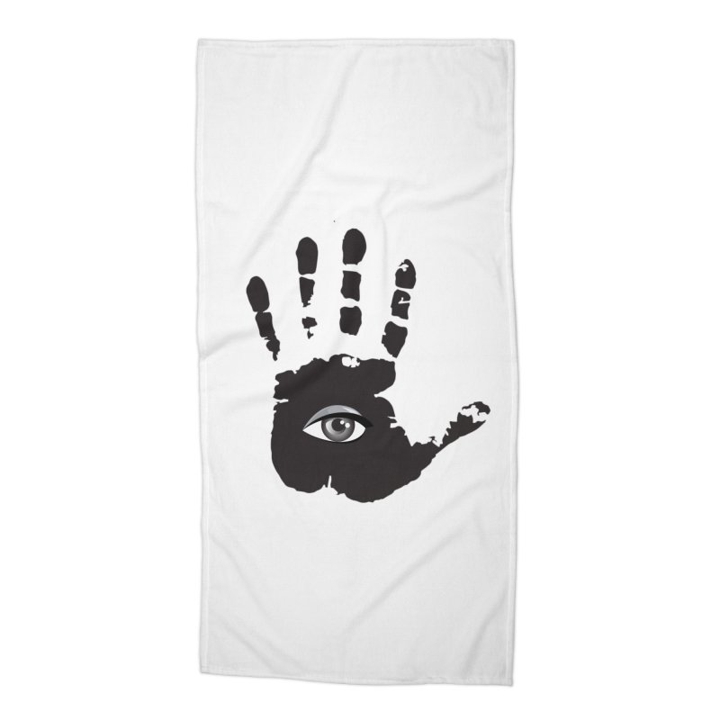 SEEING HAND Accessories Beach Towel by DesignsbyAnvilJames's Artist Shop