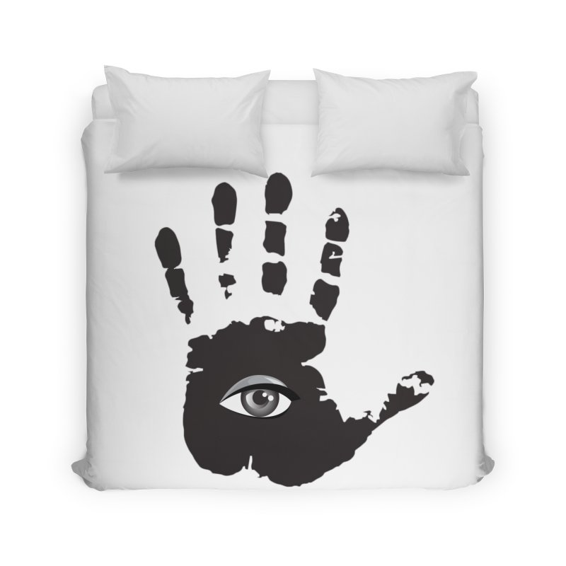 SEEING HAND Home Duvet by DesignsbyAnvilJames's Artist Shop