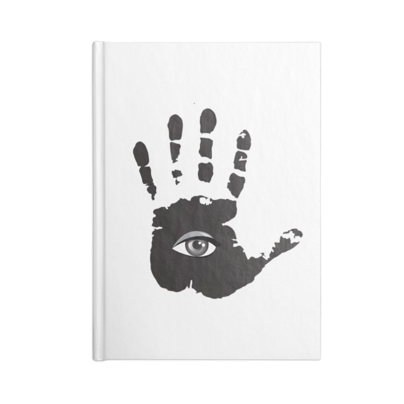 SEEING HAND Accessories Blank Journal Notebook by DesignsbyAnvilJames's Artist Shop