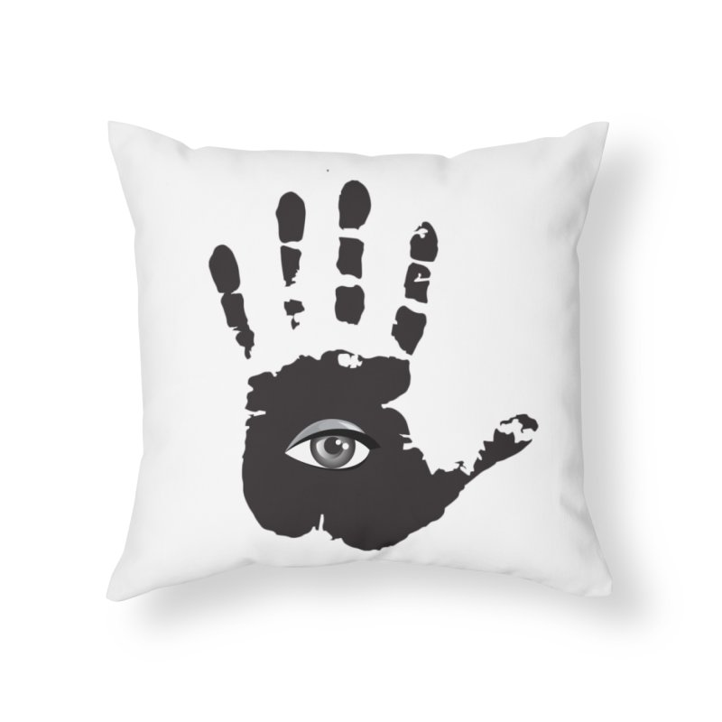 SEEING HAND Home Throw Pillow by DesignsbyAnvilJames's Artist Shop