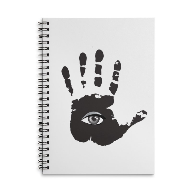 SEEING HAND Accessories Notebook by DesignsbyAnvilJames's Artist Shop