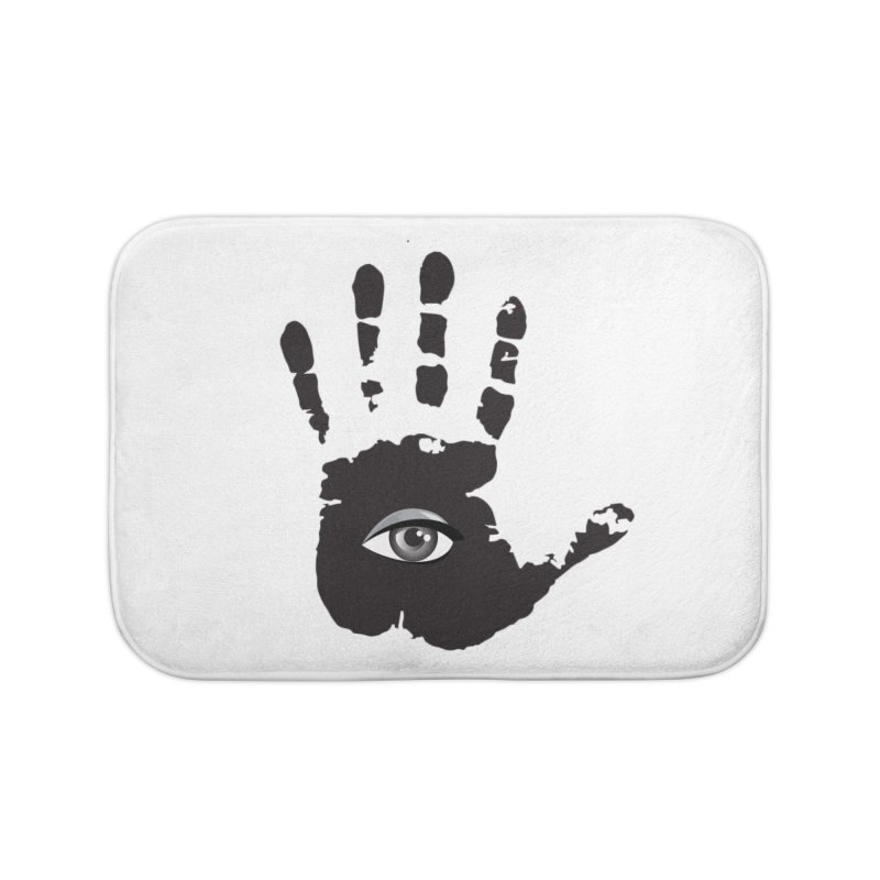 SEEING HAND Home Bath Mat by DesignsbyAnvilJames's Artist Shop