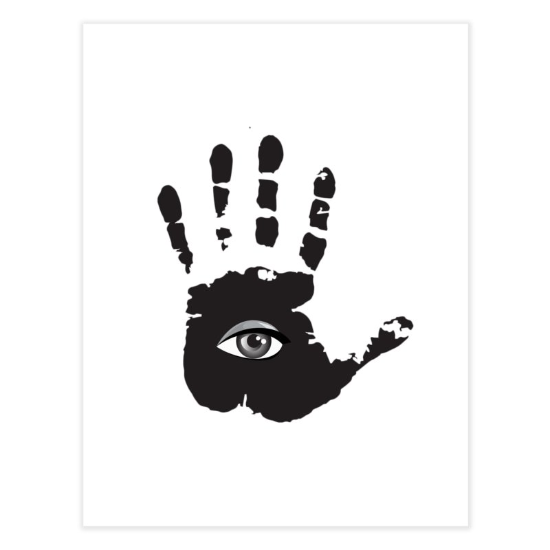 SEEING HAND Home Fine Art Print by DesignsbyAnvilJames's Artist Shop