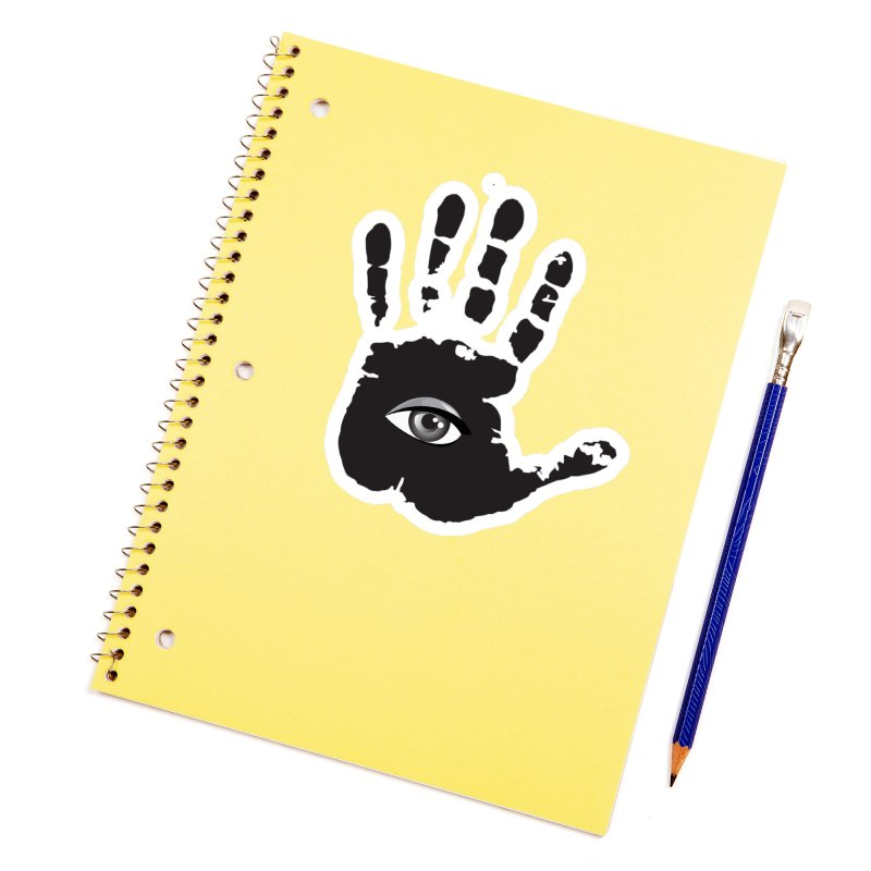 SEEING HAND Accessories Sticker by DesignsbyAnvilJames's Artist Shop