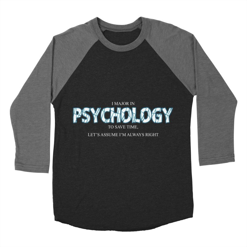 Psychology Men's Baseball Triblend T-Shirt by DesireArt's Artist Shop