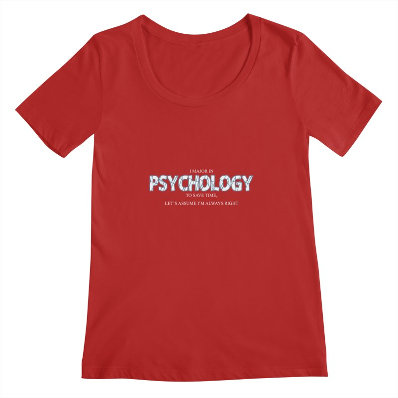 Psychology Women's Scoopneck by DesireArt's Artist Shop