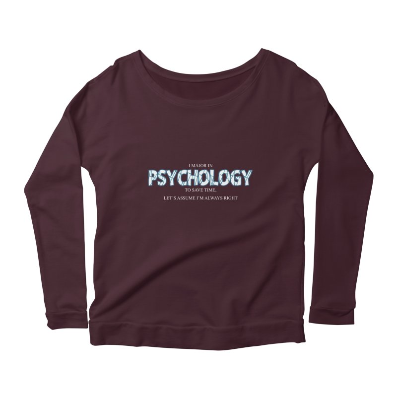 Psychology Women's Longsleeve Scoopneck  by DesireArt's Artist Shop