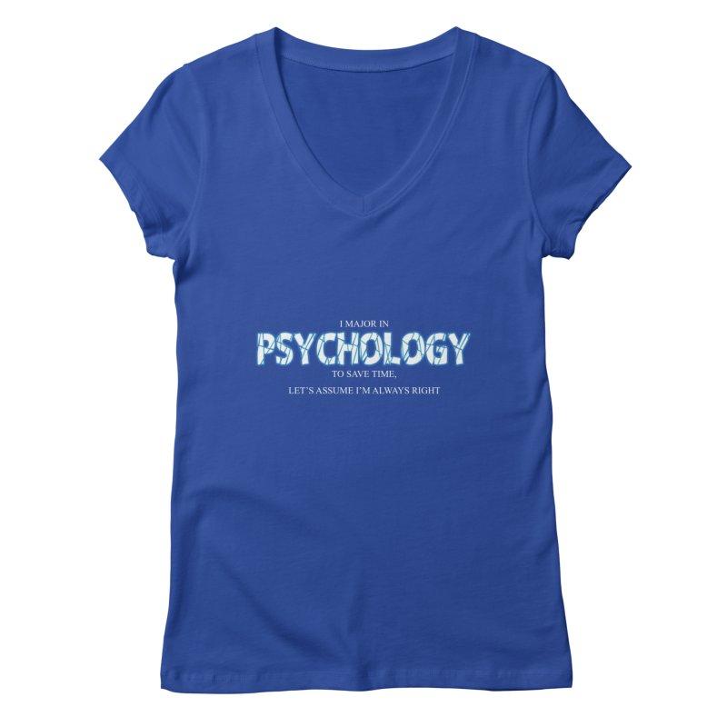 Psychology Women's V-Neck by DesireArt's Artist Shop
