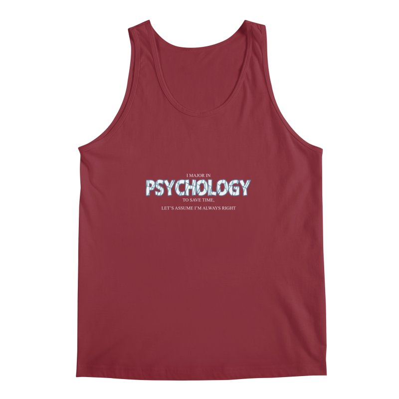 Psychology Men's Tank by DesireArt's Artist Shop