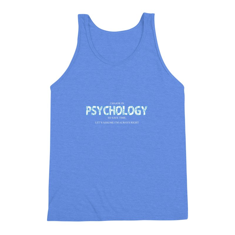 Psychology Men's Triblend Tank by DesireArt's Artist Shop