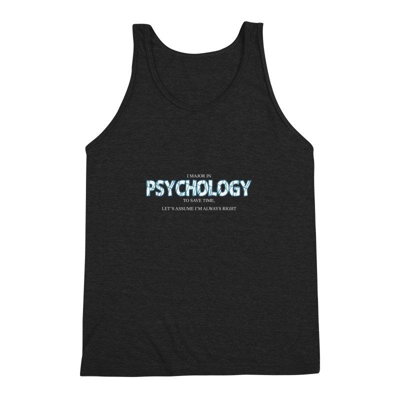 Psychology Men's Triblend Tank by DesireArt's Artist Shop