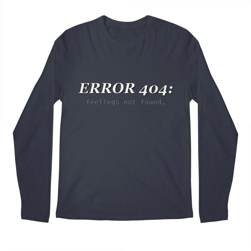 error 404 Men's Longsleeve T-Shirt by DesireArt's Artist Shop