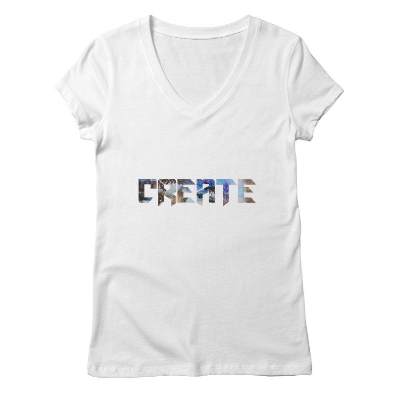 Create Women's V-Neck by DesireArt's Artist Shop