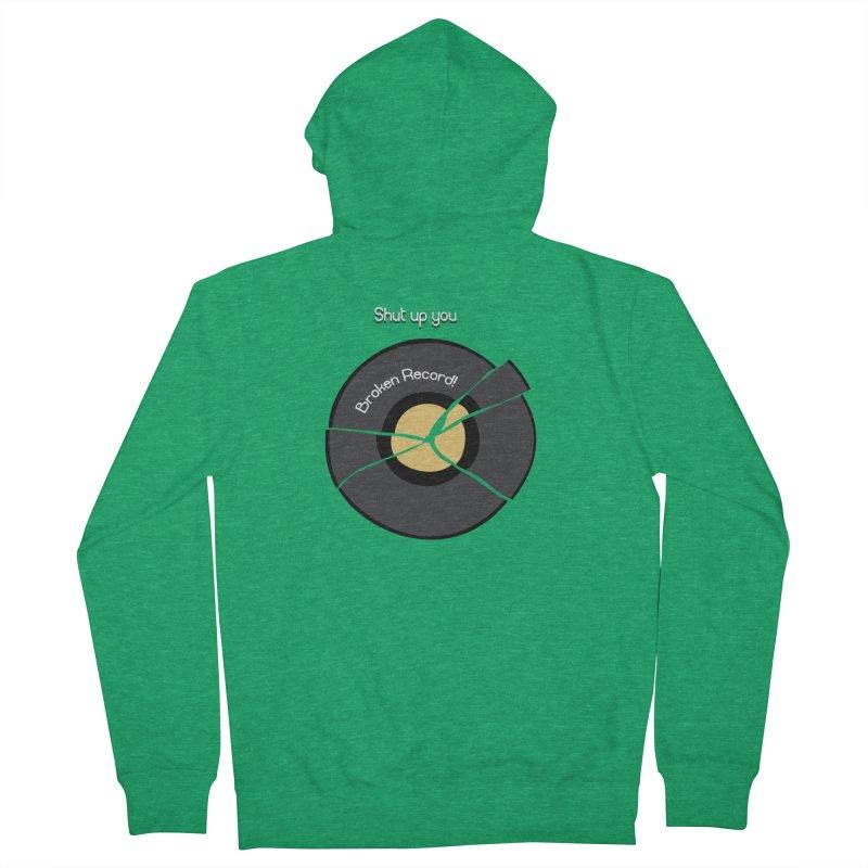 Broken Record Men's Zip-Up Hoody by DesireArt's Artist Shop