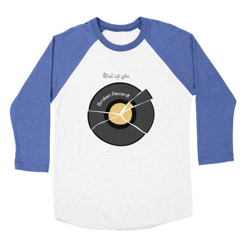 Broken Record Men's Baseball Triblend T-Shirt by DesireArt's Artist Shop