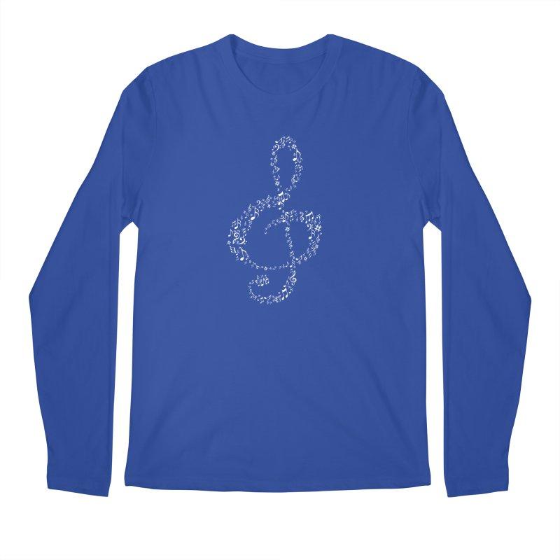 Music Note : Treble Men's Longsleeve T-Shirt by DesireArt's Artist Shop