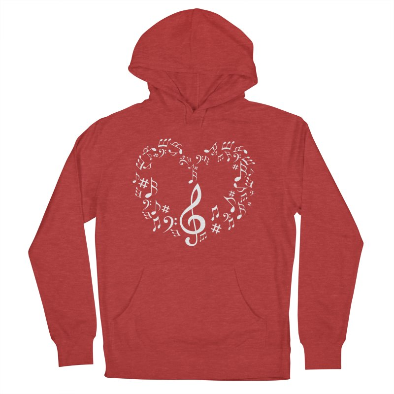Music Love Women's Pullover Hoody by DesireArt's Artist Shop