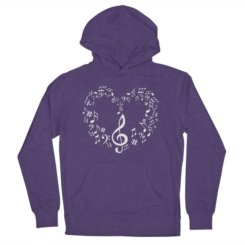 Music Love Men's Pullover Hoody by DesireArt's Artist Shop