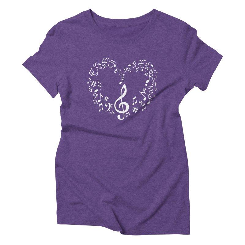 Music Love Women's Triblend T-Shirt by DesireArt's Artist Shop