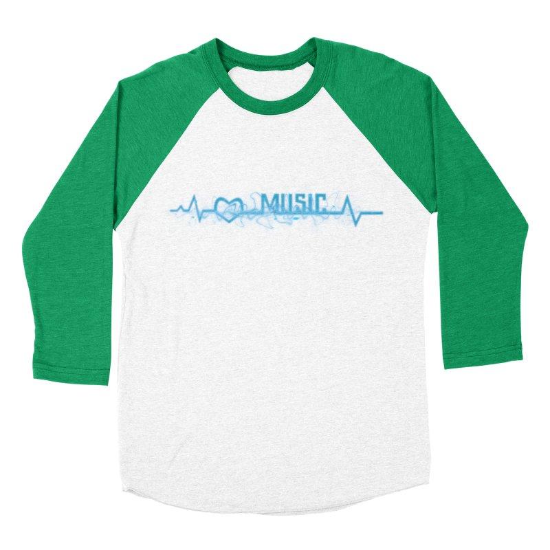 Music Love Men's Baseball Triblend T-Shirt by DesireArt's Artist Shop
