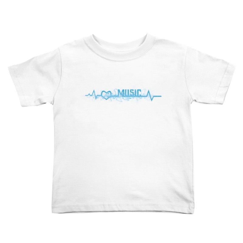 Music Love Kids Toddler T-Shirt by DesireArt's Artist Shop