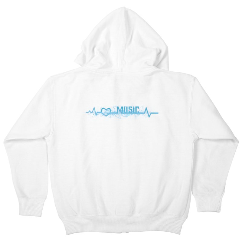Music Love Kids Zip-Up Hoody by DesireArt's Artist Shop