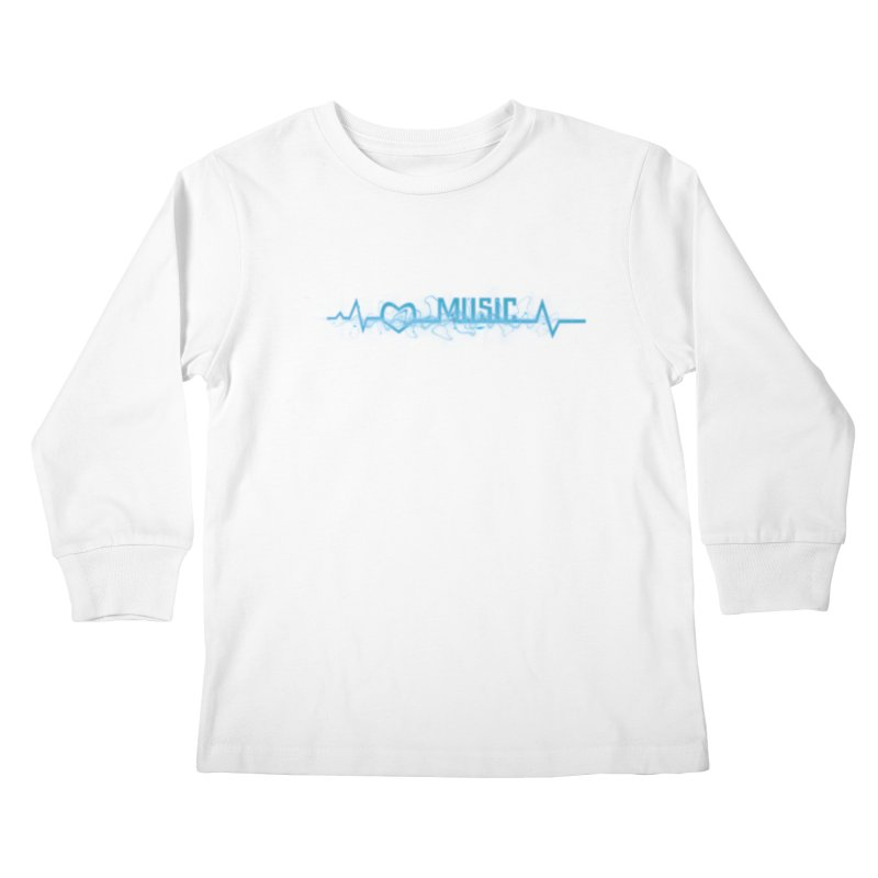 Music Love Kids Longsleeve T-Shirt by DesireArt's Artist Shop
