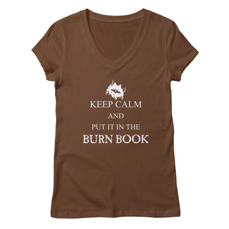 Burn Book Women's V-Neck by DesireArt's Artist Shop