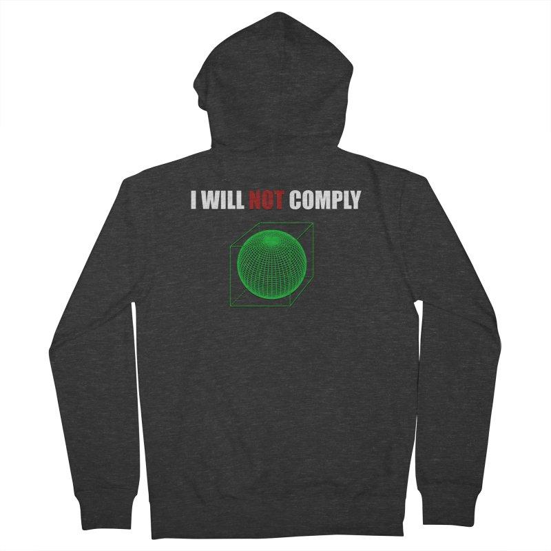 Comply Men's Zip-Up Hoody by DesireArt's Artist Shop