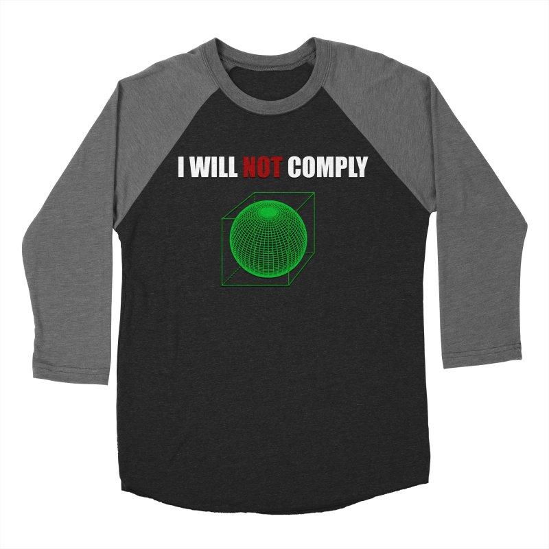 Comply Men's Baseball Triblend T-Shirt by DesireArt's Artist Shop