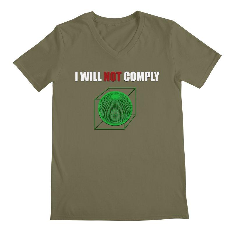 Comply Men's V-Neck by DesireArt's Artist Shop