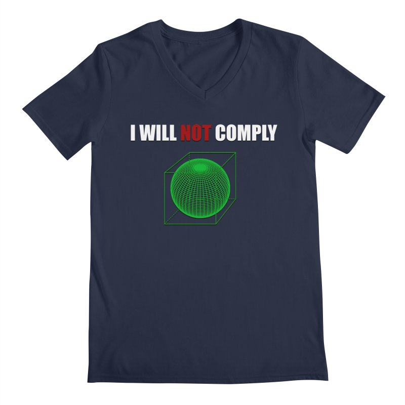 Comply Men's V-Neck by DesireArt's Artist Shop