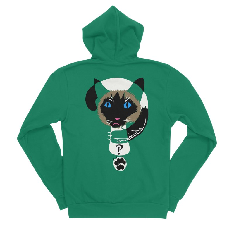 Interrobang Cat Men's Sponge Fleece Zip-Up Hoody by DevilishDetails's Artist Shop