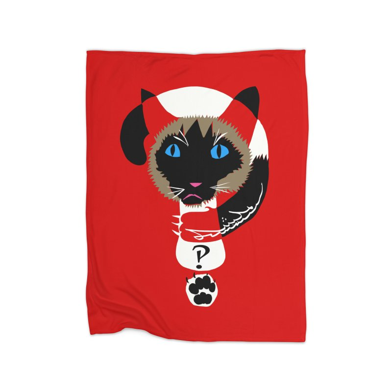 Interrobang Cat Home Blanket by DevilishDetails's Artist Shop