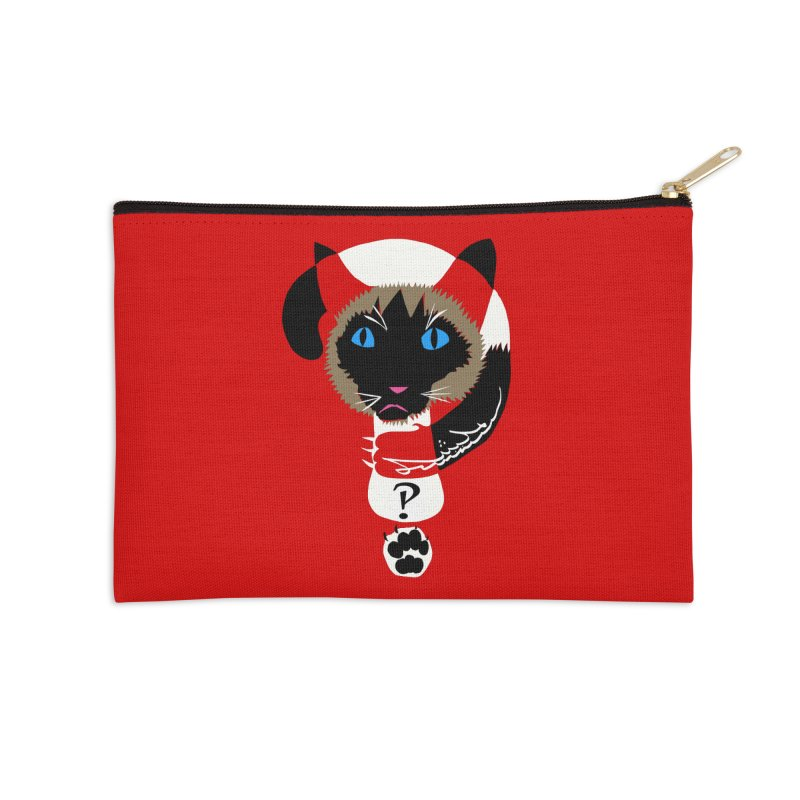 Interrobang Cat Accessories Zip Pouch by DevilishDetails's Artist Shop