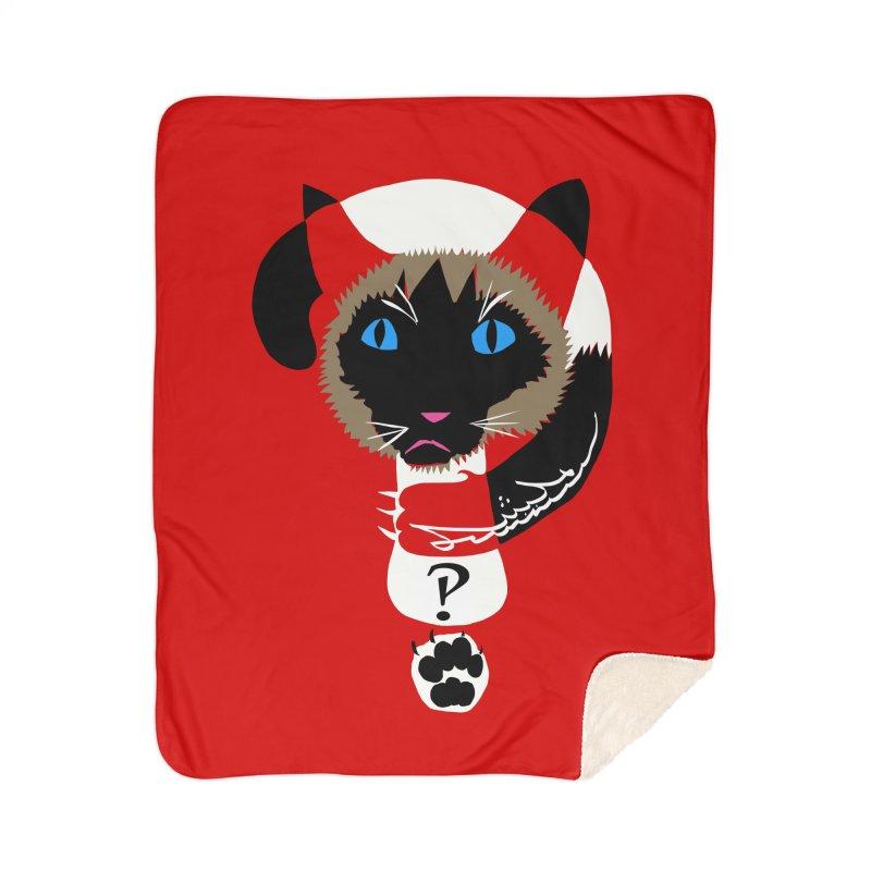 Interrobang Cat Home Sherpa Blanket Blanket by DevilishDetails's Artist Shop