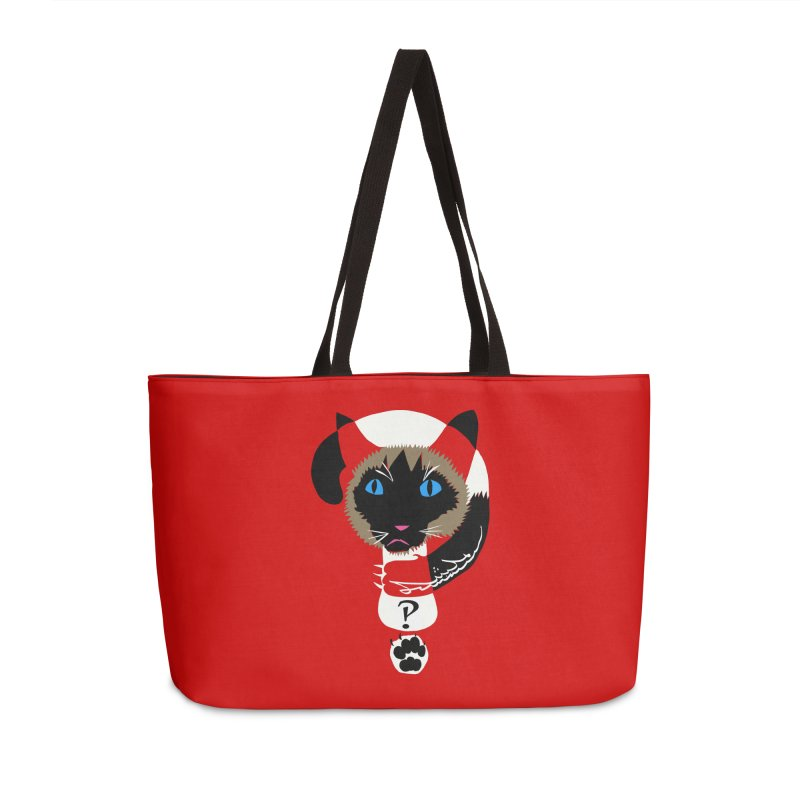 Interrobang Cat Accessories Weekender Bag Bag by DevilishDetails's Artist Shop