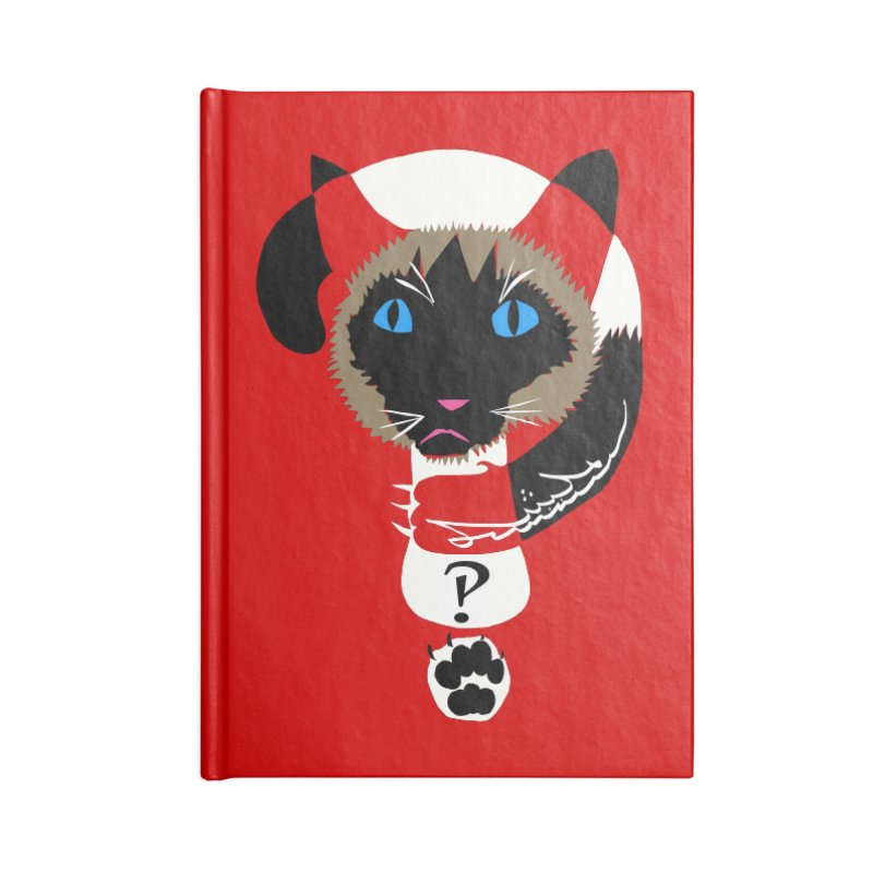 Interrobang Cat Accessories Lined Journal Notebook by DevilishDetails's Artist Shop