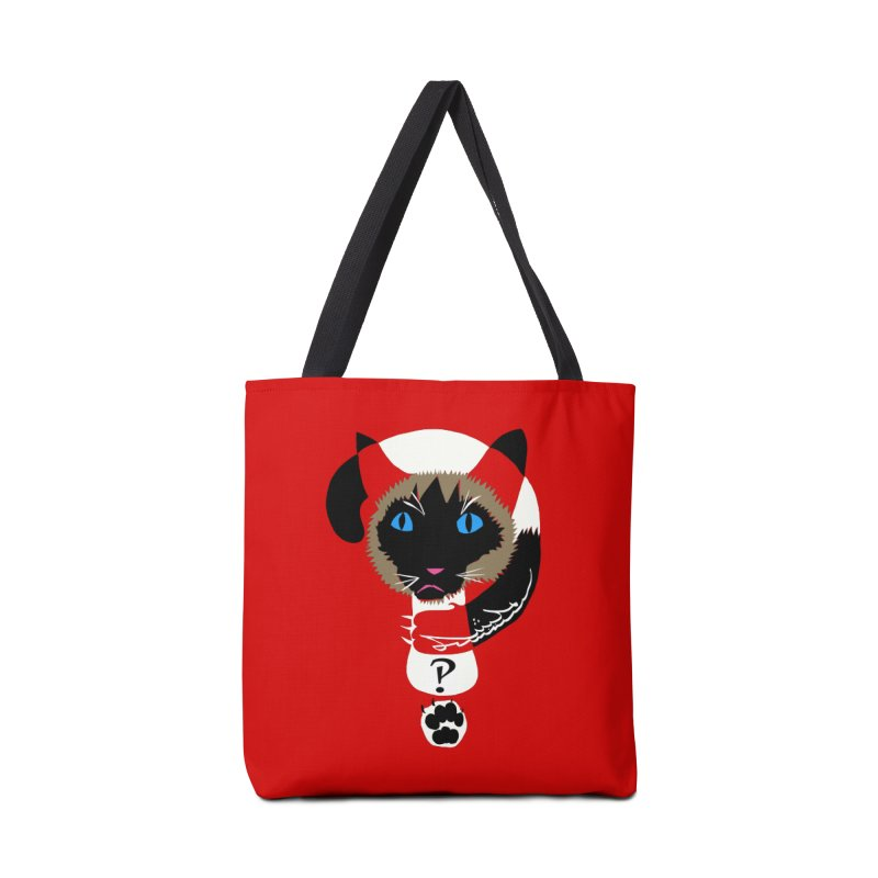 Interrobang Cat Accessories Bag by DevilishDetails's Artist Shop