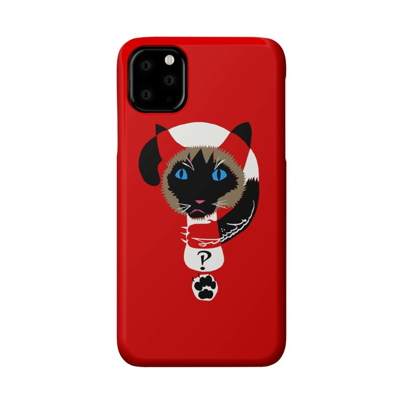 Interrobang Cat Accessories Phone Case by DevilishDetails's Artist Shop