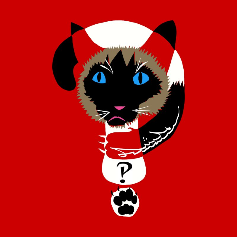 Interrobang Cat Men's V-Neck by DevilishDetails's Artist Shop