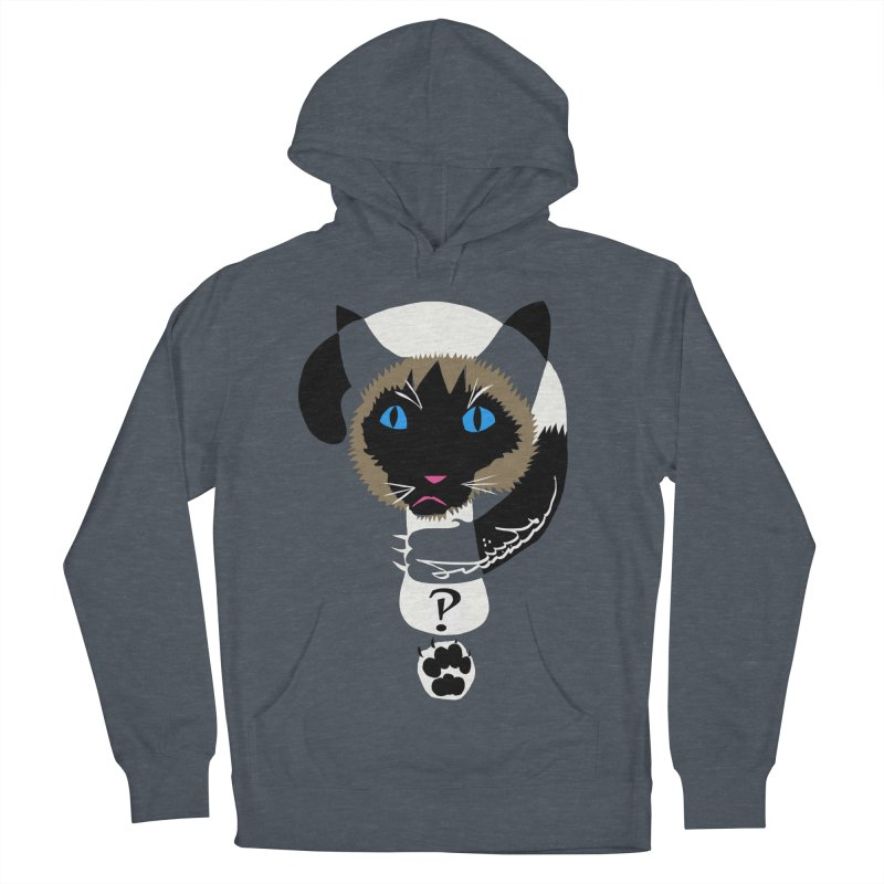Interrobang Cat Women's French Terry Pullover Hoody by DevilishDetails's Artist Shop