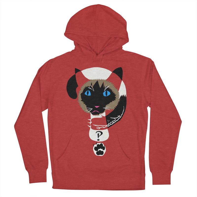 Interrobang Cat Women's Pullover Hoody by DevilishDetails's Artist Shop