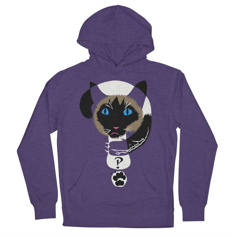 Interrobang Cat Men's French Terry Pullover Hoody by DevilishDetails's Artist Shop