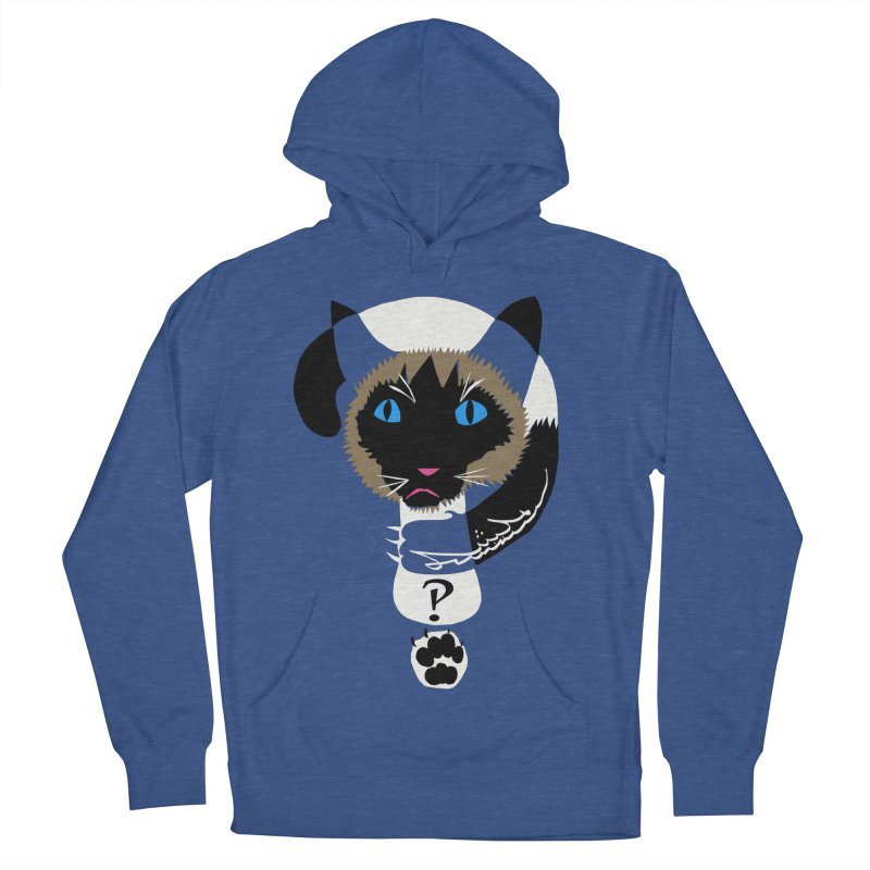 Interrobang Cat Men's Pullover Hoody by DevilishDetails's Artist Shop
